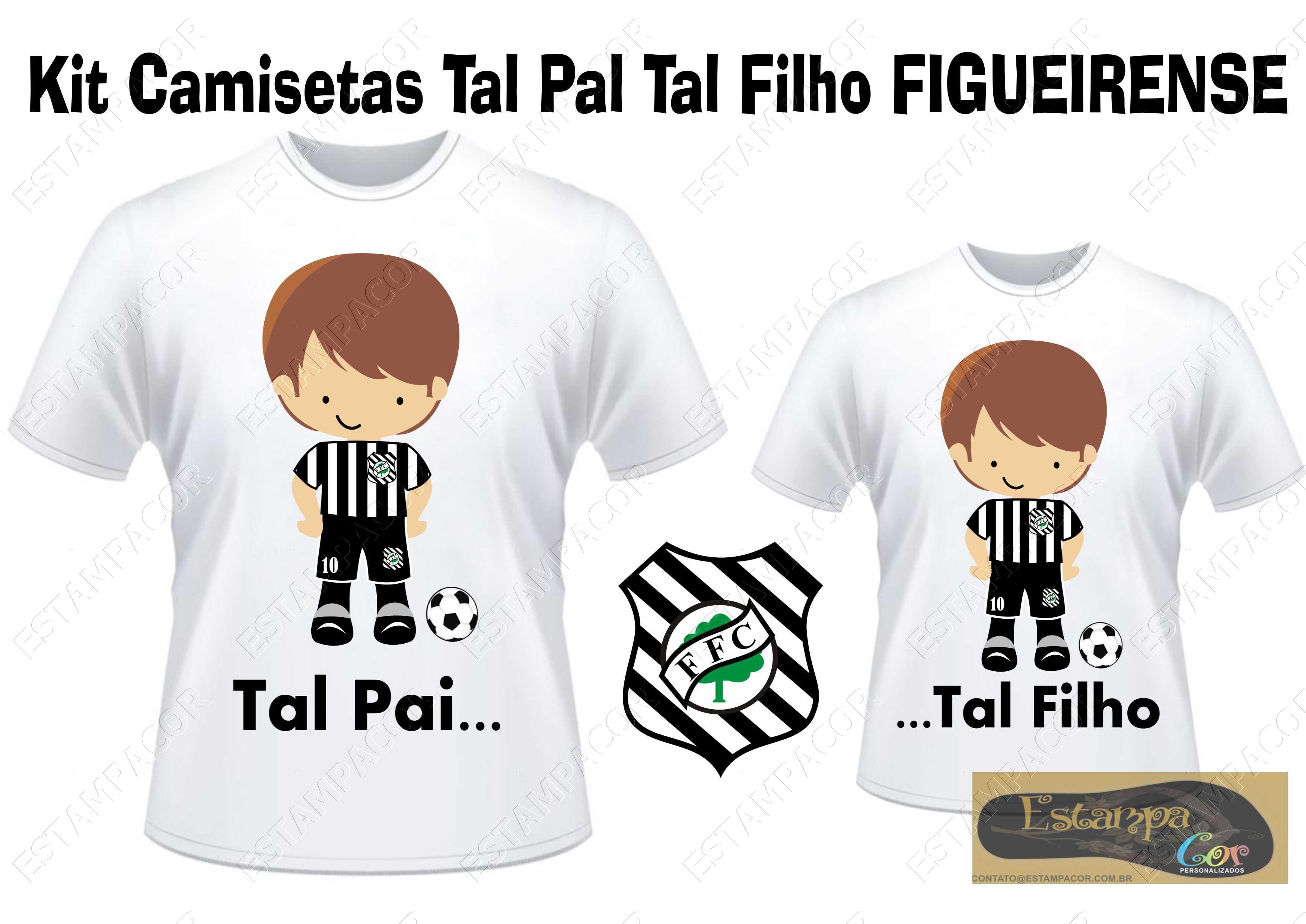 Camiseta Personalizada Tal Pai Tal Filho Figueirense (monte o seu Kit)