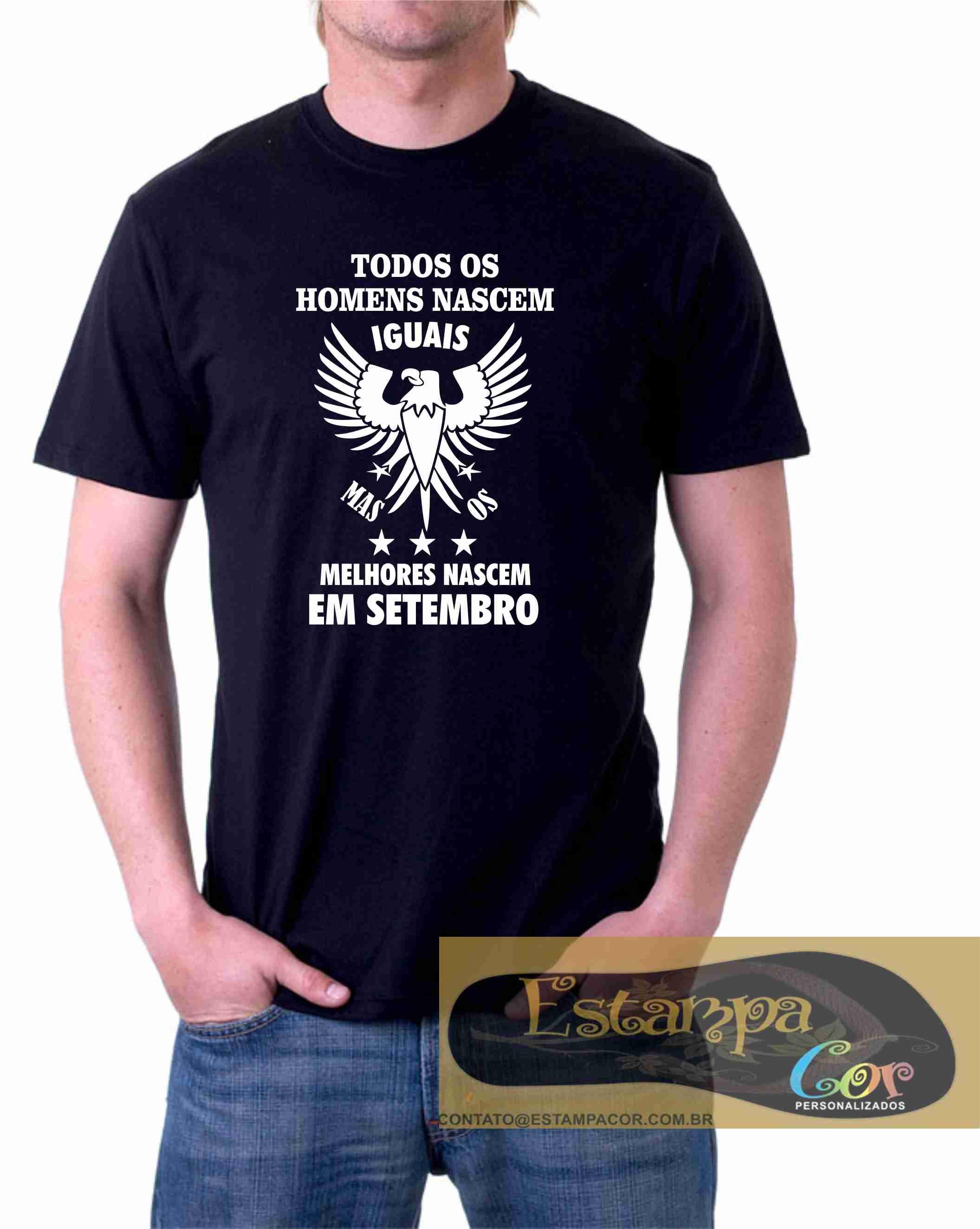 Camiseta Preta Todos os Homens Nascem Iguais Mas os Melhores