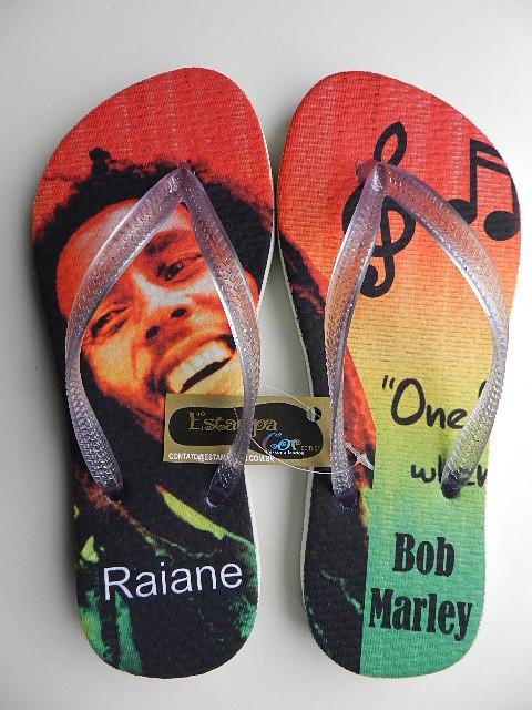 Chinelo Personalizado Bob Marley
