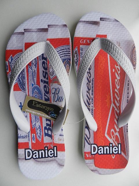 Chinelo Personalizado Cerveja Budweiser
