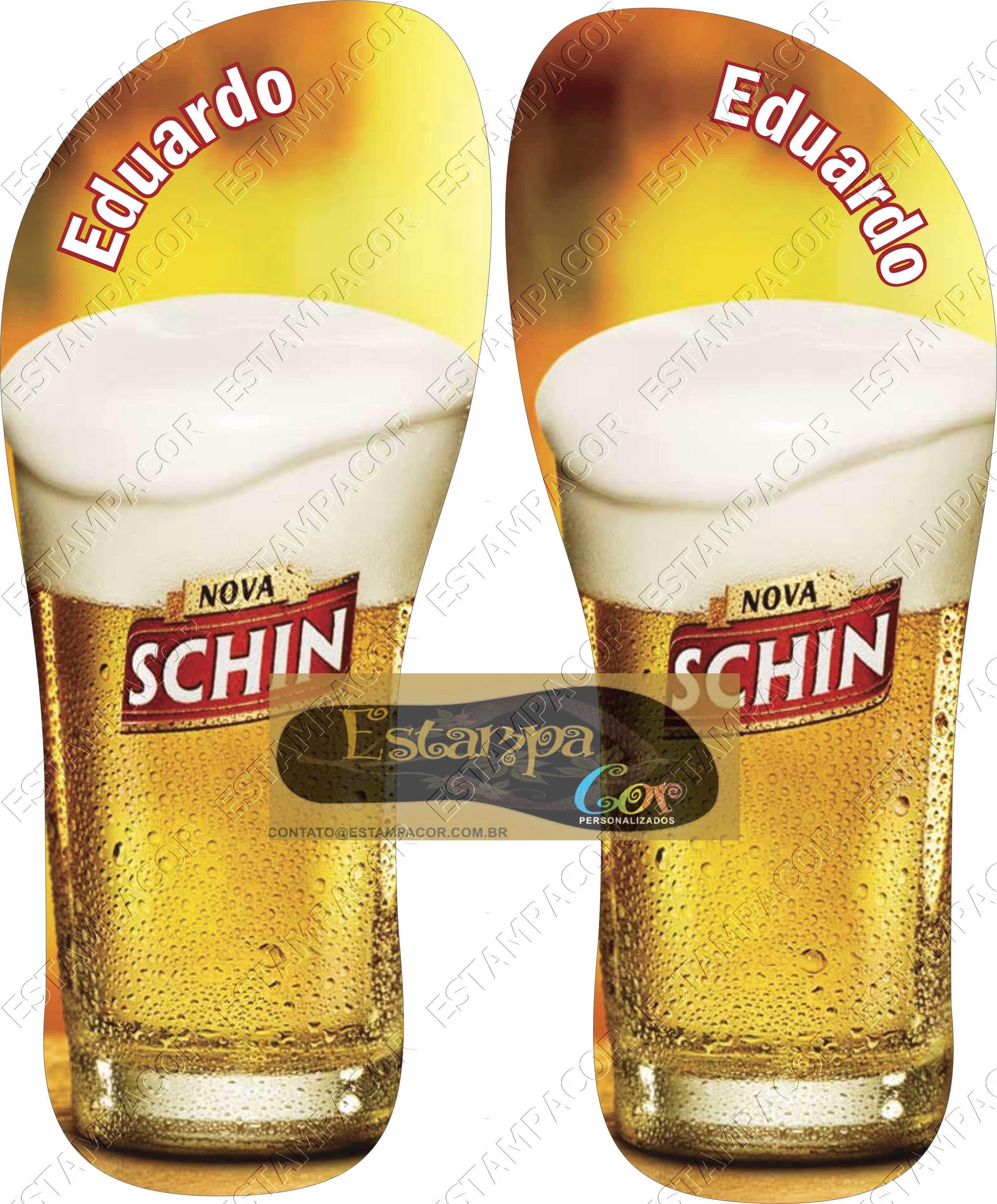 Chinelo Personalizado Cerveja Nova Schin I