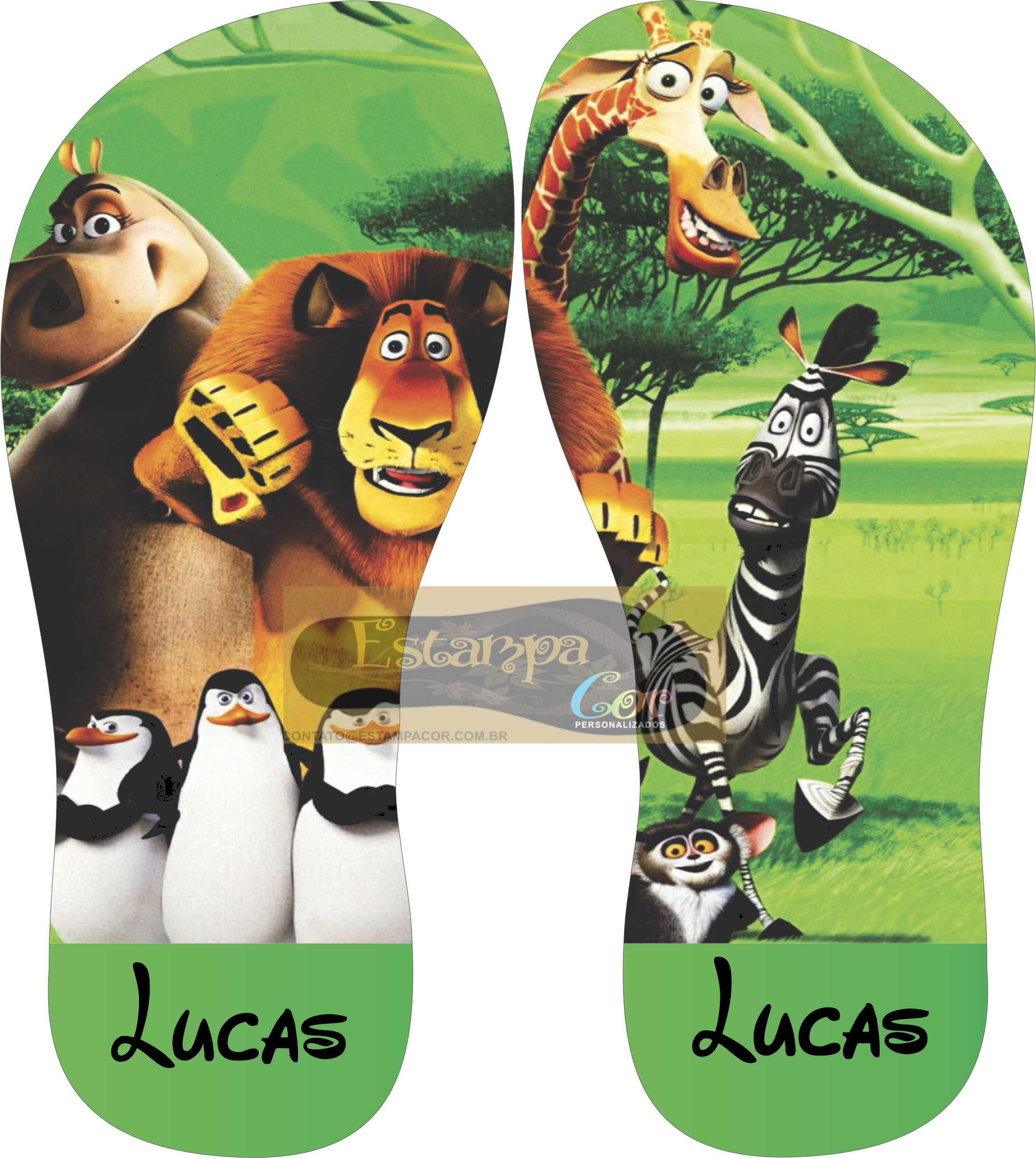 Chinelo Personalizado Madagascar