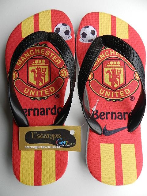 Chinelo Personalizado Manchester United