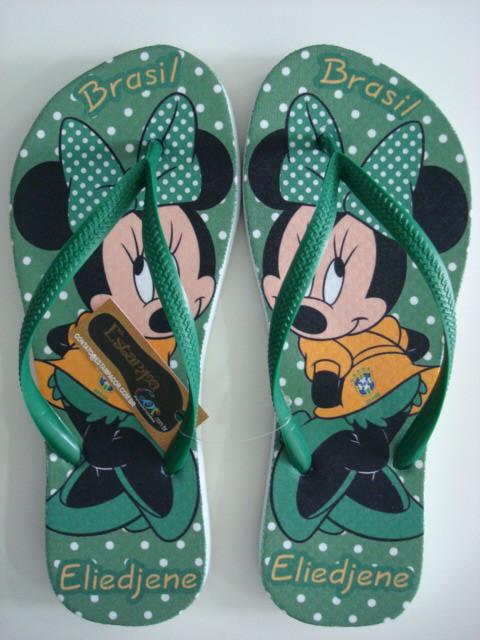 Chinelo Personalizado Minnie Brasil