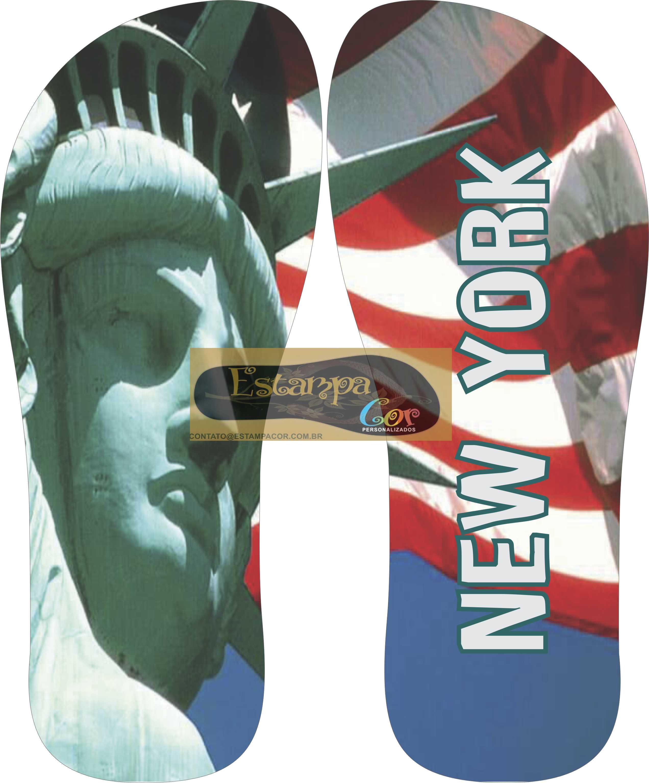 Chinelo Personalizado New York