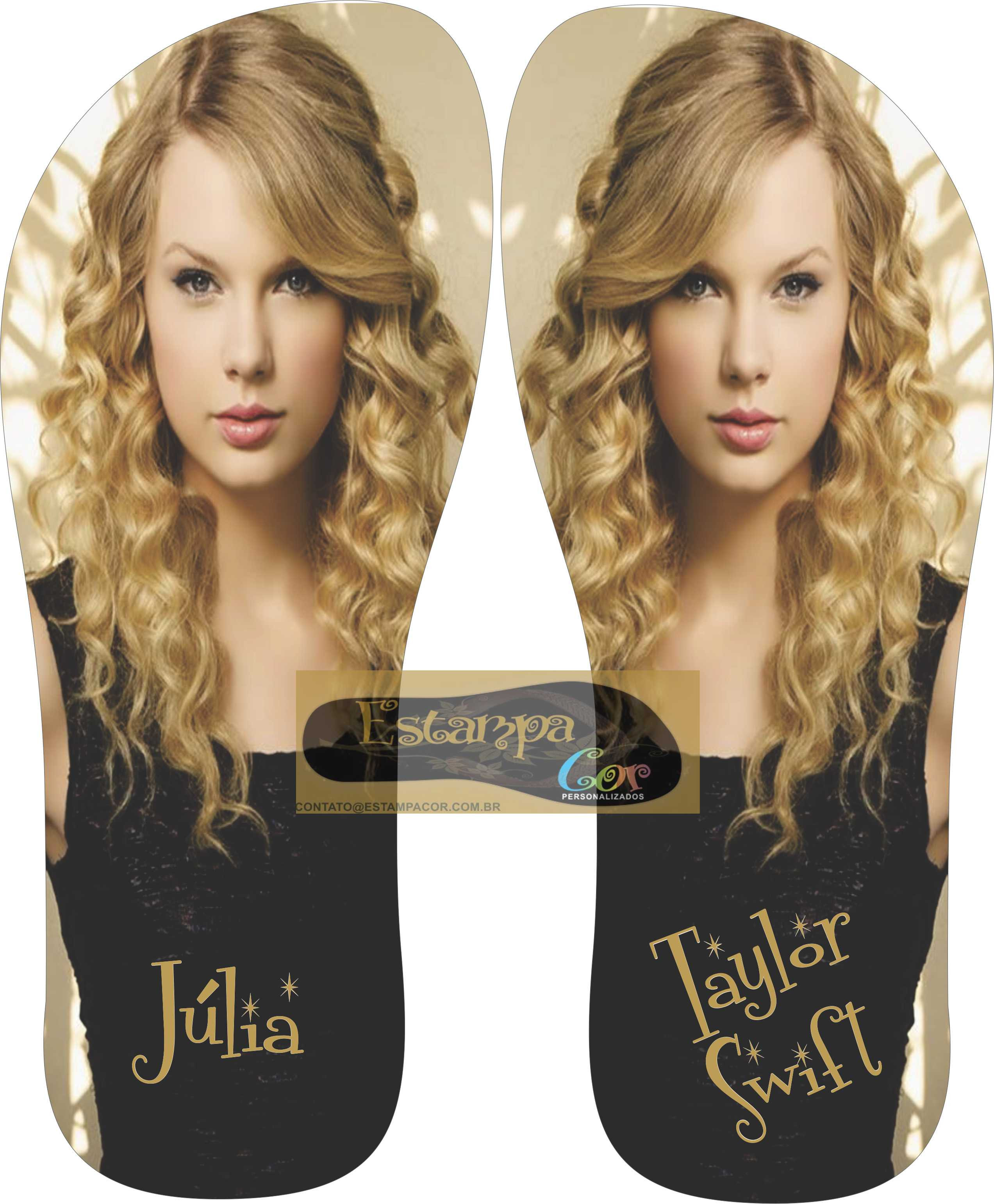 Chinelo Personalizado Taylor Swift