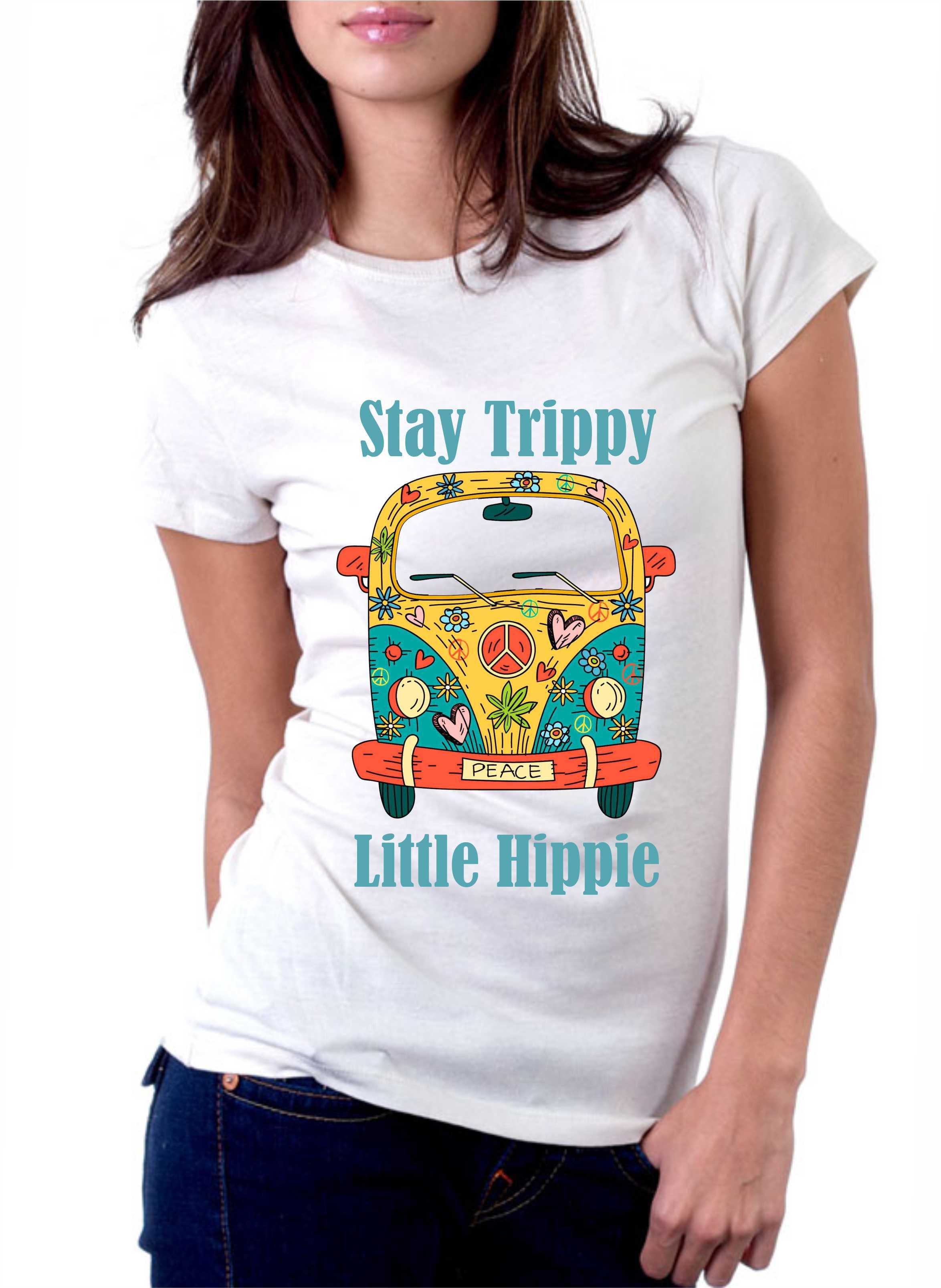 Camiseta Stay Trippy Little Hippie