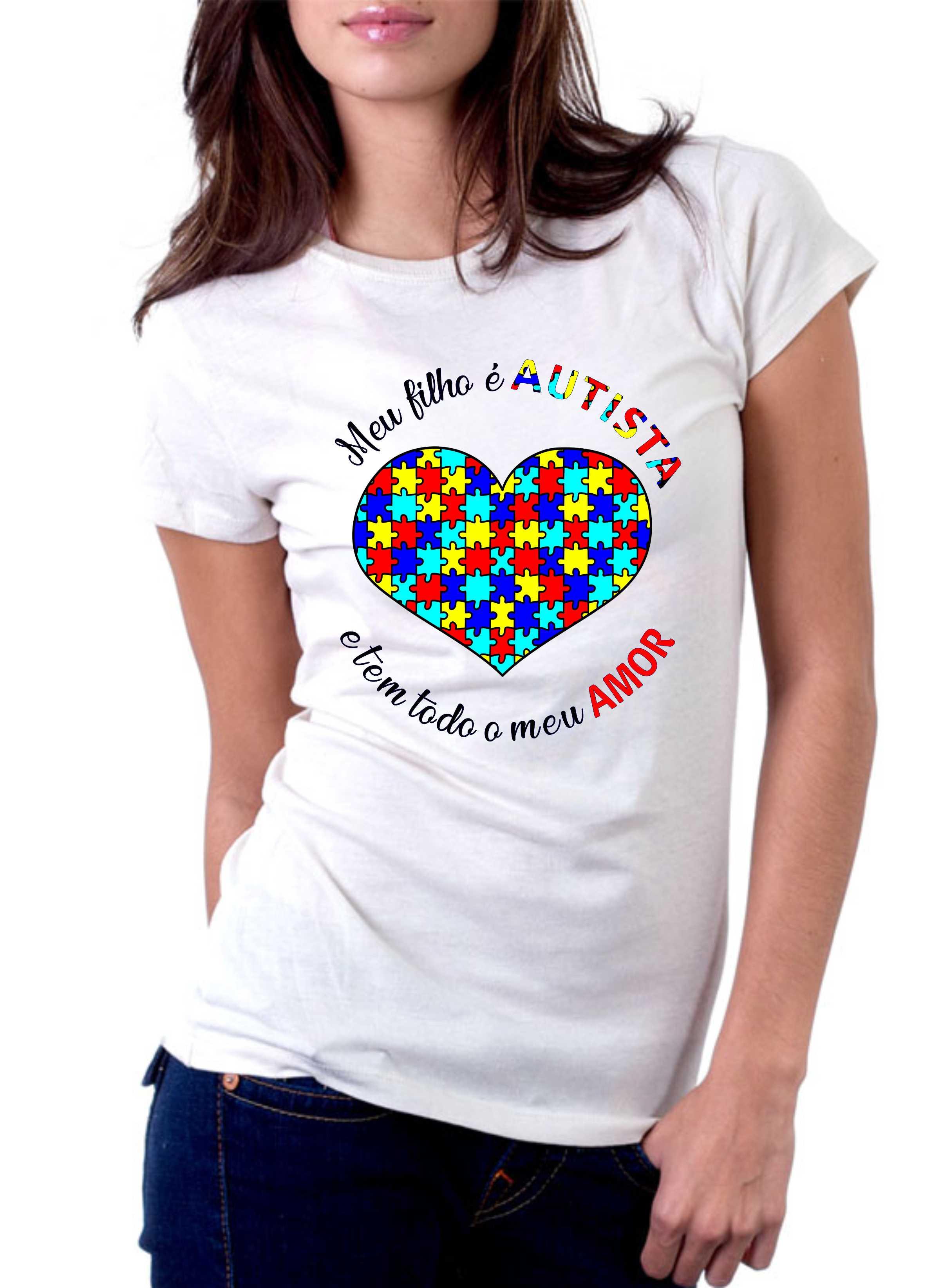 Camiseta Personalizada Autismo I - Escolha O Modelo