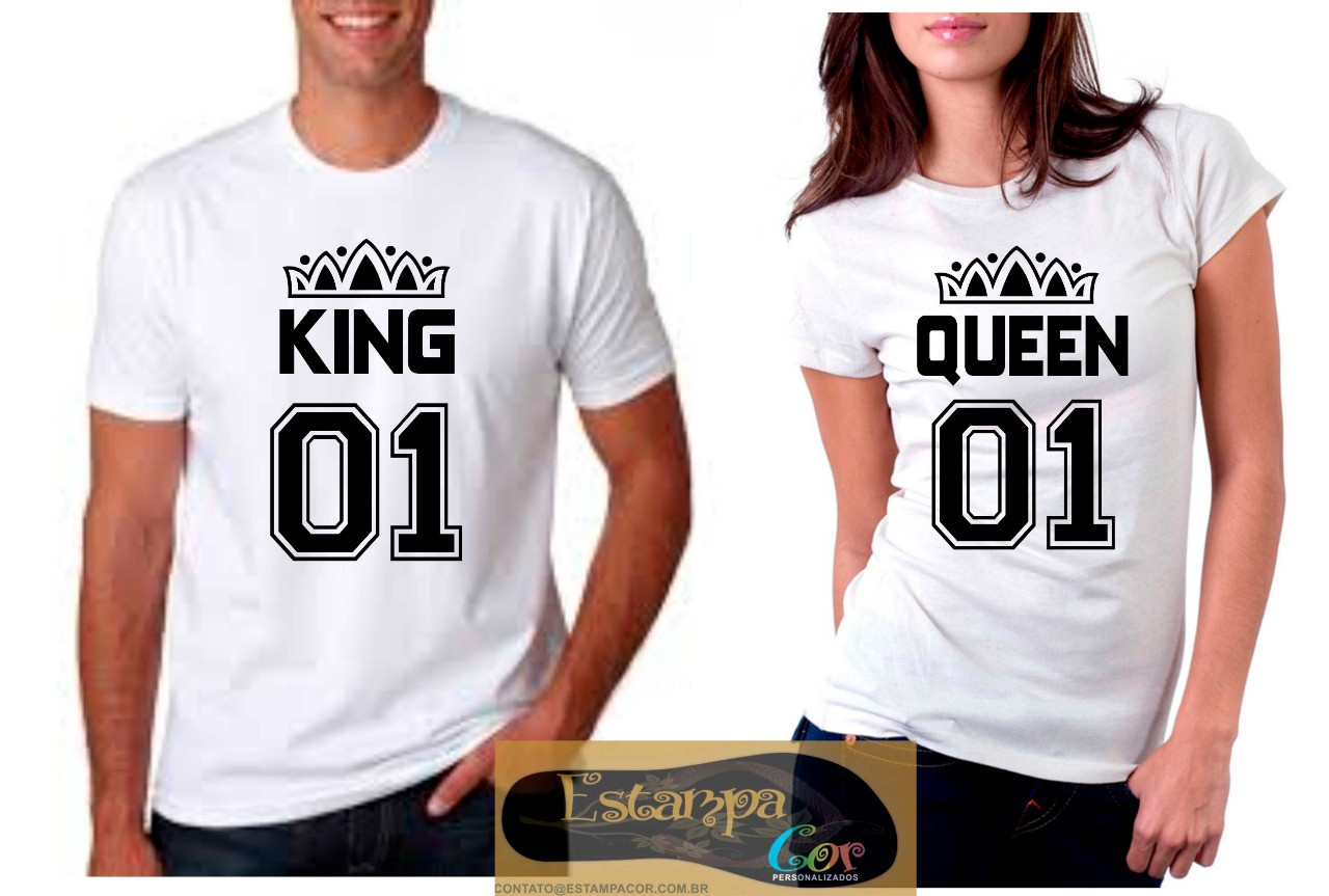 Camiseta Personalizada King Queen