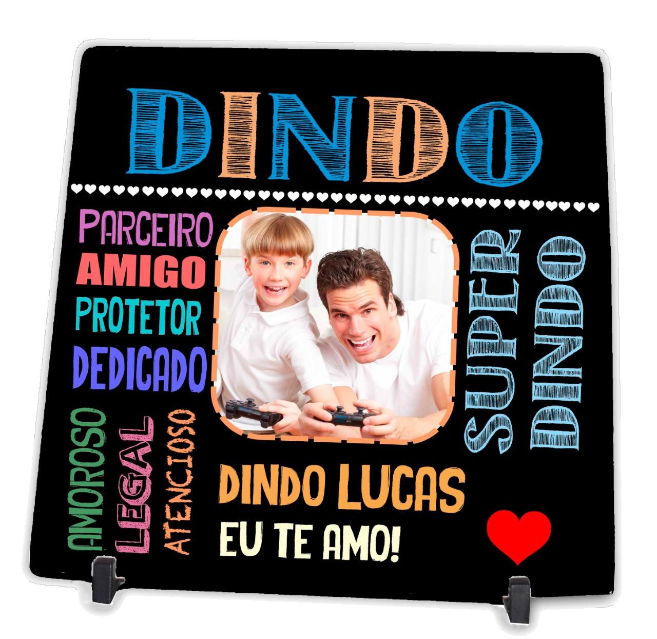 Azulejo Personalizado com Foto do Dindo