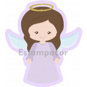 Recorte Personalizado em Tecido Para Almofada Naninha de Anjinha Anjo da Guarda