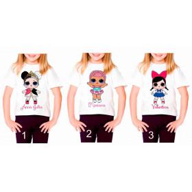 Camiseta Personalizada Boneca Lol Surprise II - 6 Modelos