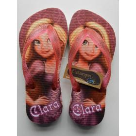 Chinelo Personalizado Rapunzel