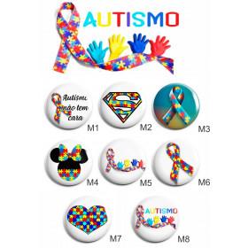 Botons Personalizados Autismo 4,4cm - Escolha os Modelos