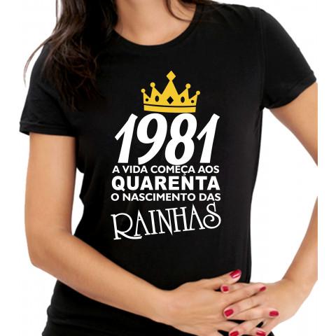 camiseta das rainhas 1981 40 anos