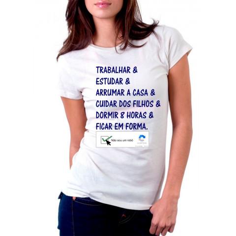 Camiseta Personalizada Não Sou Um Robo