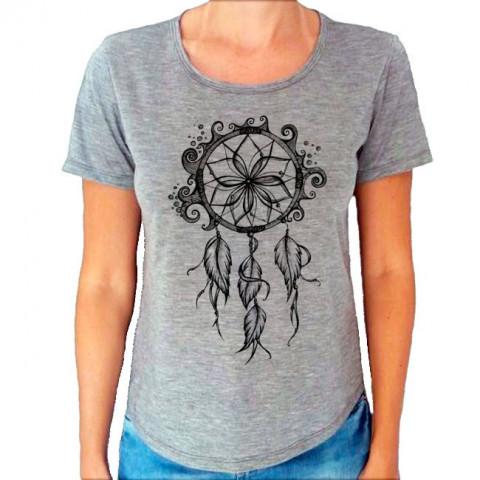 Camiseta T-Shirt Cinza Mescla Filtro Dos Sonhos