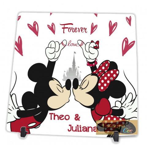 Azulejo Personalizado Casal Mickey e Minnie