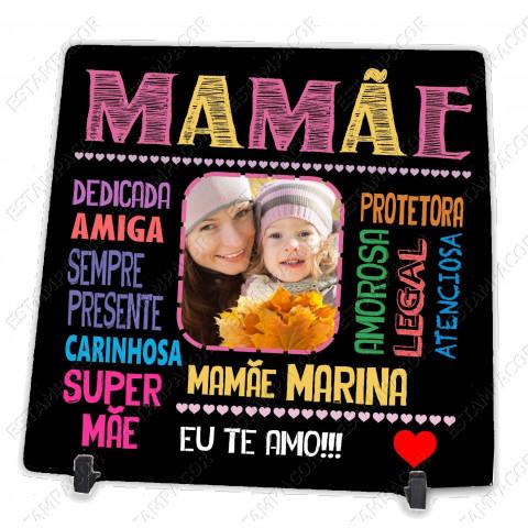Azulejo Personalizado com Foto da Mamãe Presente Dia das Mães