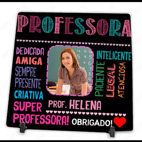 Azulejo Personalizado com Foto da Professora Presente Dia do Professor