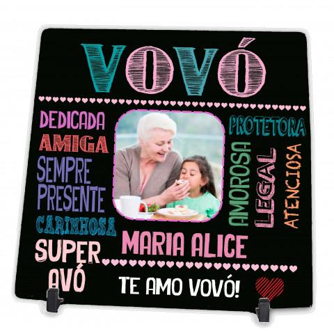 Azulejo Personalizado com Foto da Vovó Presente Avó Dia das Mães