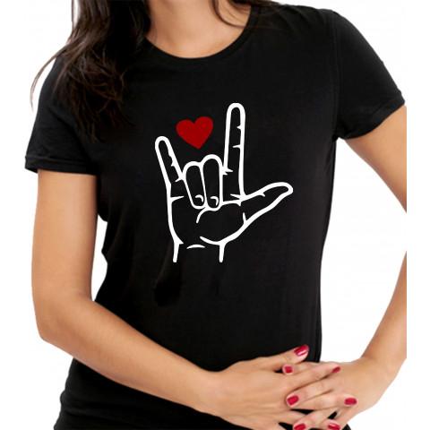 Camiseta Personalizada Eu Te Amo Libras Linguagem de Sinais