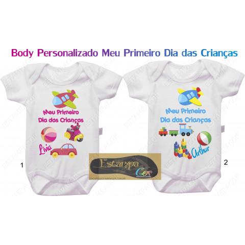 Body Personalizado Primeiro Dia das Crianças