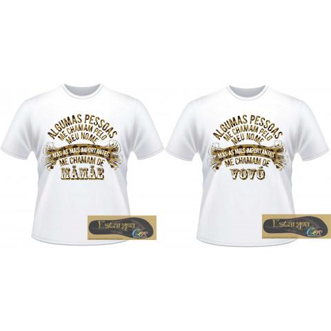Camiseta Personalizada Algumas Pessoas Dourada
