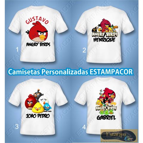 Camiseta Personalizada Angry Birds
