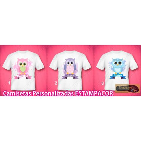 Camiseta Personalizada Corujinhas