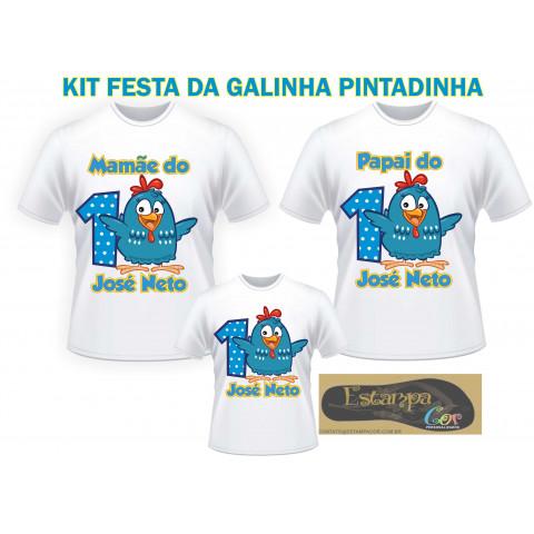 Camiseta Personalizada Família Galinha Pintadinha (monte o seu Kit)