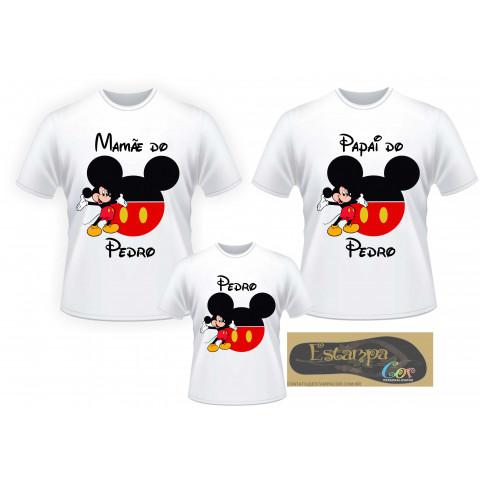 Camiseta Personalizada Família Mickey/Minnie (monte o seu Kit)