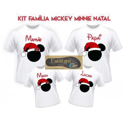 Camiseta Personalizada Família Mickey/Minnie Natal (monte o seu Kit)