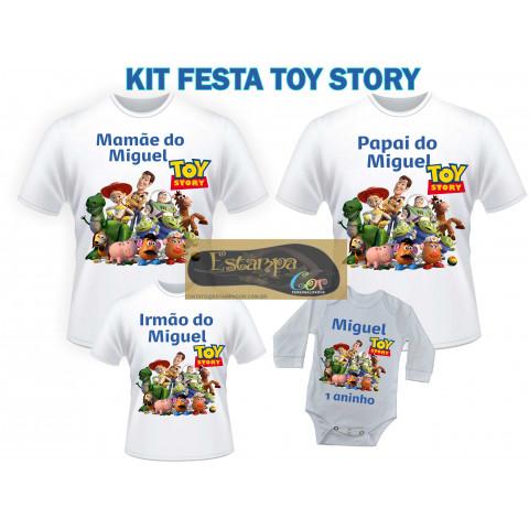 Camiseta Personalizada Família Toy Story (monte o seu Kit)