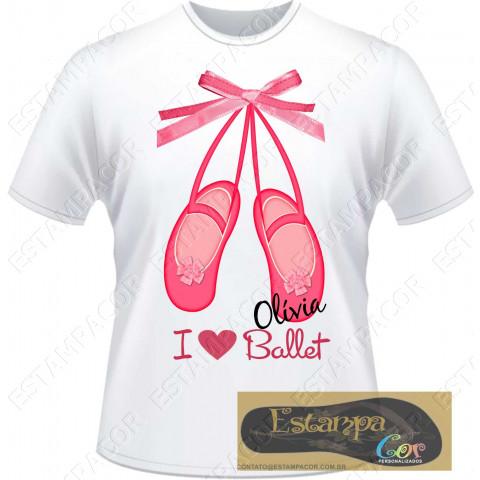 Camiseta Personalizada I Love Ballet