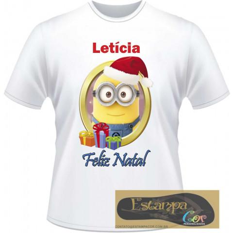 Camiseta Personalizada Minions Natal