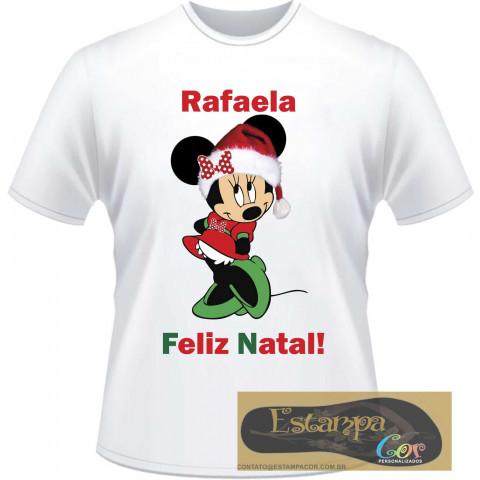 Camiseta Personalizada Minnie Natal