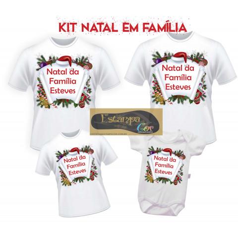 Camiseta Personalizada Natal da Família (monte o seu Kit)