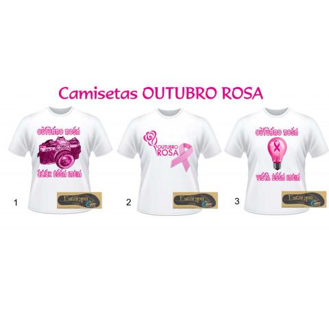 Camiseta Personalizada Outubro Rosa