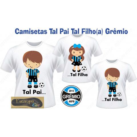 Camiseta Personalizada Tal Pai Tal Filho GRÊMIO (monte o seu Kit)