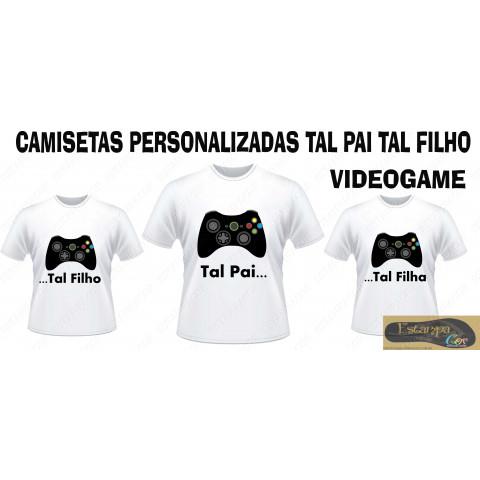 Camiseta Personalizada Tal Pai Tal Filho Videogame (monte o seu Kit)