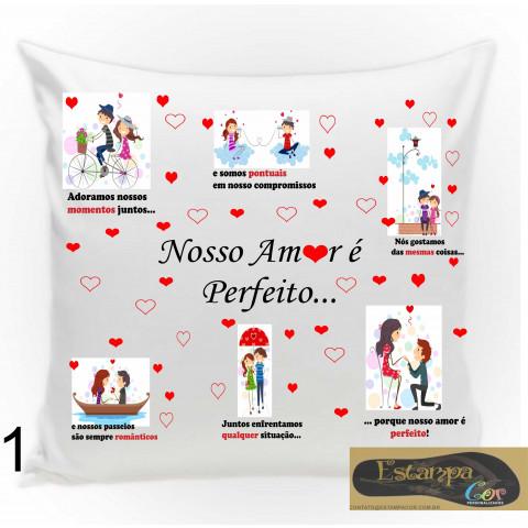 Capa de Almofada Personalizada Diversos Modelos Amor
