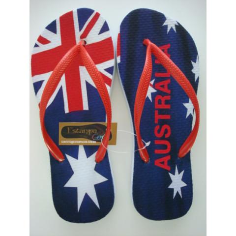 Chinelo Personalizado Bandeira Austrália