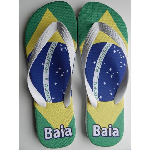 Chinelo Personalizado Bandeira Brasil