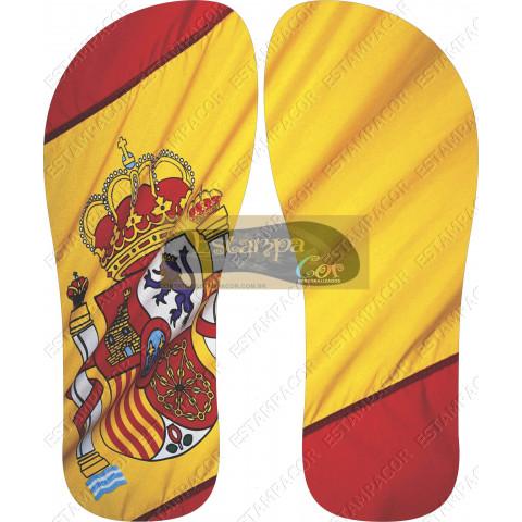 Chinelo Personalizado Bandeira Espanha