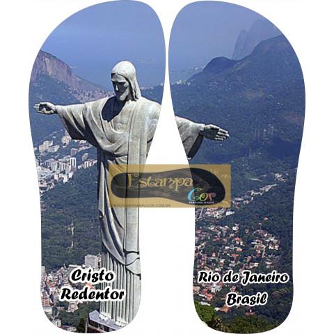 Chinelo Personalizado Cristo Redentor