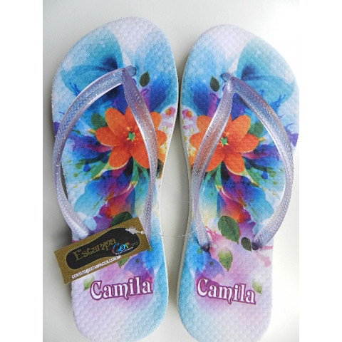 Chinelo Personalizado Floral XII
