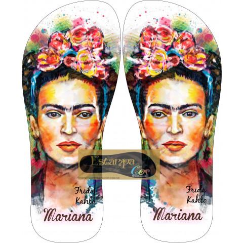 Chinelo Personalizado Frida Kahlo