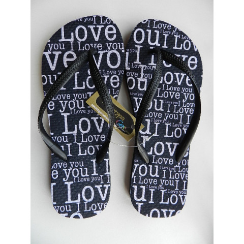 Chinelo Personalizado I LOVE YOU