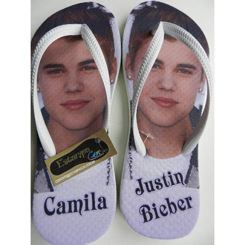 Chinelo Personalizado Justin Bieber I